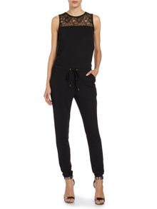 Vero Moda Sleeveless lace top jumpsuit
