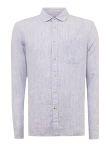 Fleet Linen Striped Long Sleeve Shirt