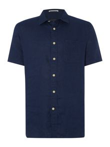 Columbia Plain Linen Short Sleeve Shirt