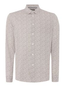 Linea Turrel Geo Clover Print Long Sleeve Shirt