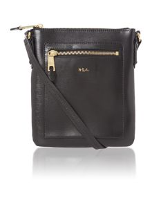 Black medium flat tate cross body bag