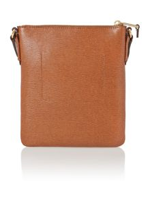 Tan medium flat tate cross body bag