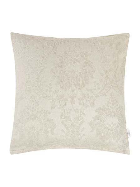 Shabby Chic Large grey damask cushion