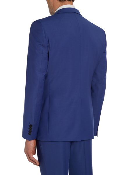 Simon Carter Cobalt solid slim fit suit jacket