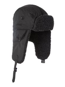 Fleece lined trapper hat