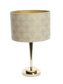 Rochelle gold effect printed table lamp