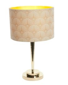 Biba Rochelle gold effect printed table lamp