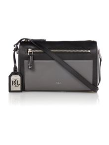 Grey and black medium cross body bag