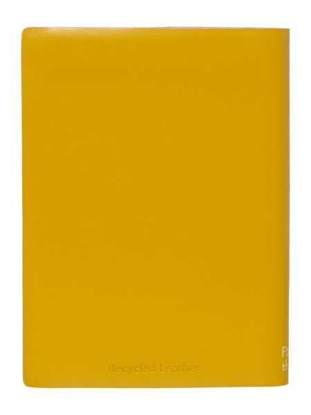 Paper Thinks Yellow ruled leather small ruled notebook