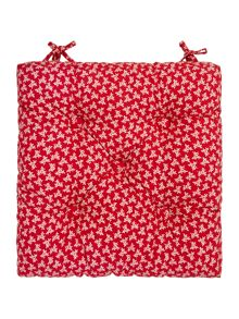 Floral chair pad