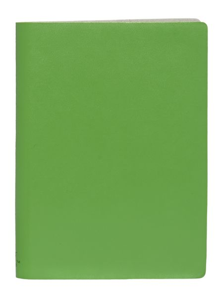 Paper Thinks Green ruled leather small notepad