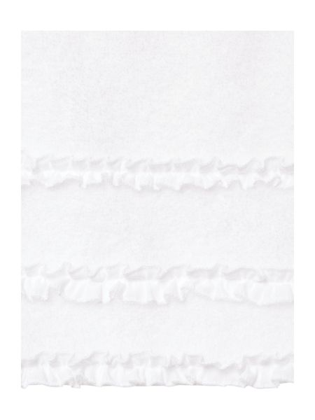 Shabby Chic Frill border hand towel white