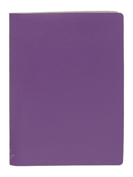 Paper Thinks Purple ruled leather small notepad
