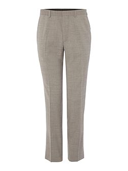 Melange Slim Fit Suit Trousers