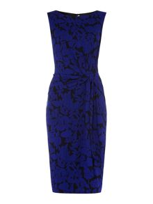 Floral venessa side tie dress