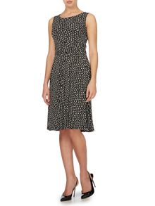 Full skirted spot dress