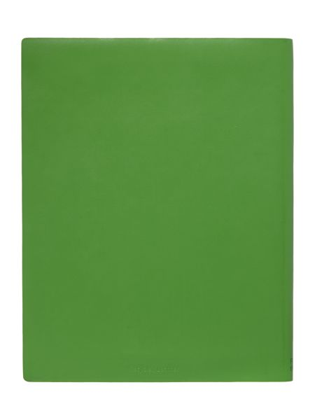 Paper Thinks Green ruled leather large notebook