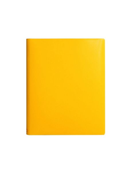 Paper Thinks Yellow ruled leather large notebook
