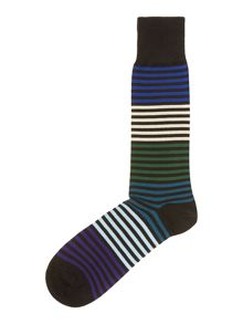 Solid stripe sock