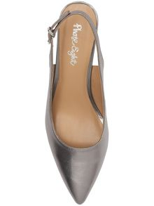 Victoria leather sling back shoes