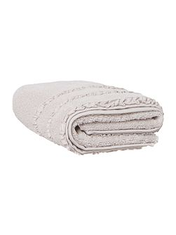 Shabby Chic Frill Border Hand Towel in Grey
