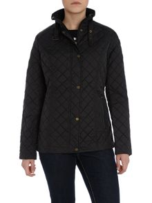 Quilted Jacket with faux leather trim