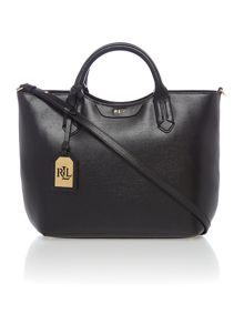 Lauren Ralph Lauren Tate black large convertible tote bag