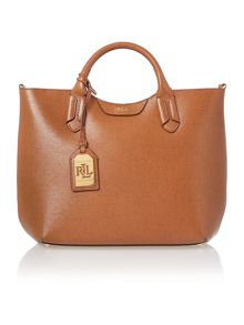 Lauren Ralph Lauren Tate tan convertible tote bag