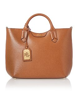 Tate tan convertible tote bag