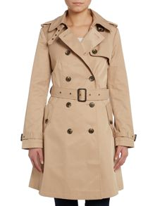 Skirted trench coat