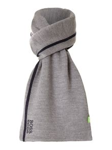 Fleece lined logo scarf