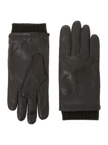 Haily knit lining leather gloves