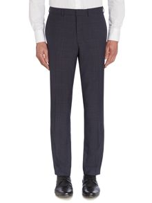 Check Peak Lapel Slim Fit Trousers