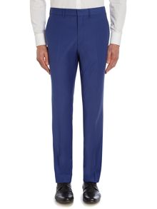 Simon Carter Cobalt Solid Slim Fit Trousers