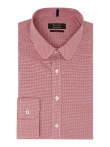 Gingham Slim Fit Stripe Shirt
