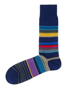 Stamp stripe sock