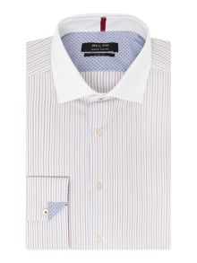 Red Multi Stripe Slim Fit Shirt