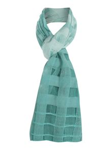 Grid effect ombre scarf