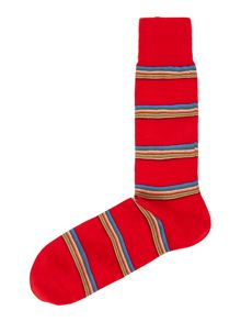 Multi block stripe sock