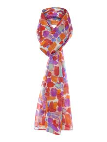 Paint dabs silk scarf