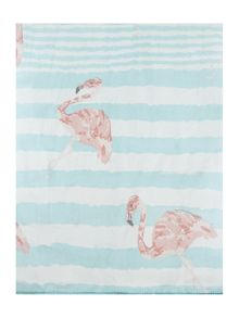 Flamingo stripe silk scarf