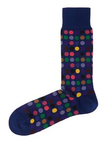 Multi polka dot sock