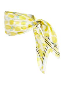 Lemon print silk square scarf