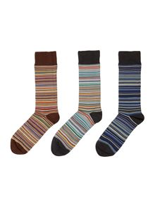 3 pack multistripe sock in a box