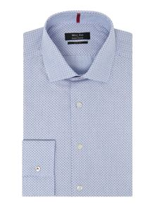 Textured Spot Slim Fit Shirt