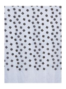 Spots and squares silk scarf