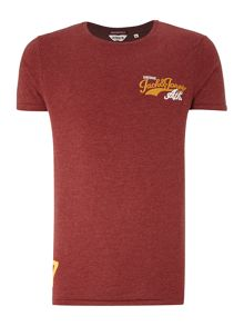 Mens short sleeve field embroidered tee