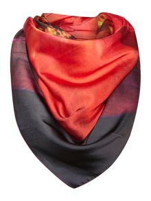 Hyper floral square scarf