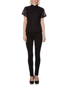 Lace boxy shirt
