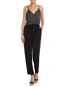 Cami top glitter jumpsuit